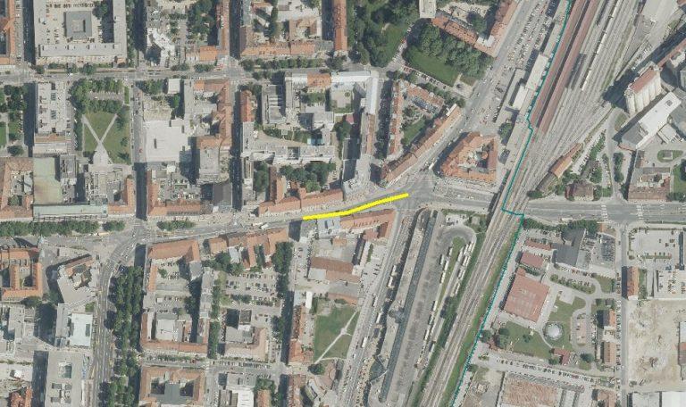 Zapora Partizanske ceste grafika